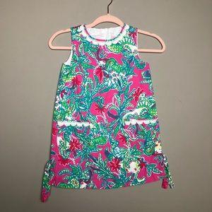 Lilly Pulitzer sz 7 Girls mini floral shift dress